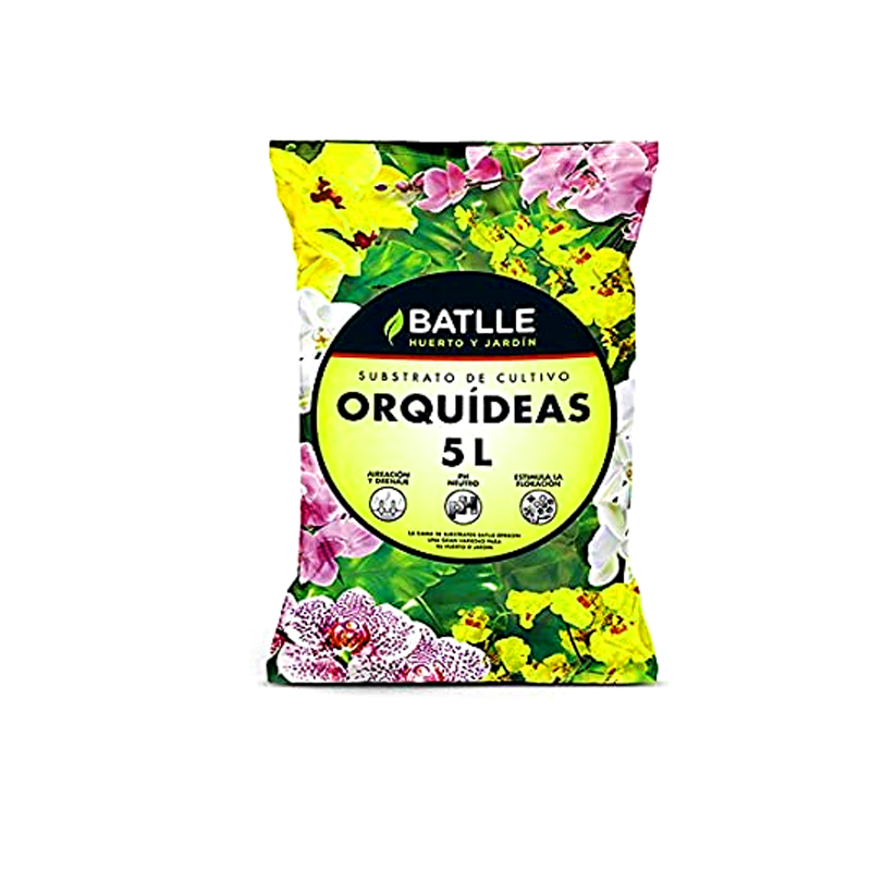 saco sustrato orquideas 5l