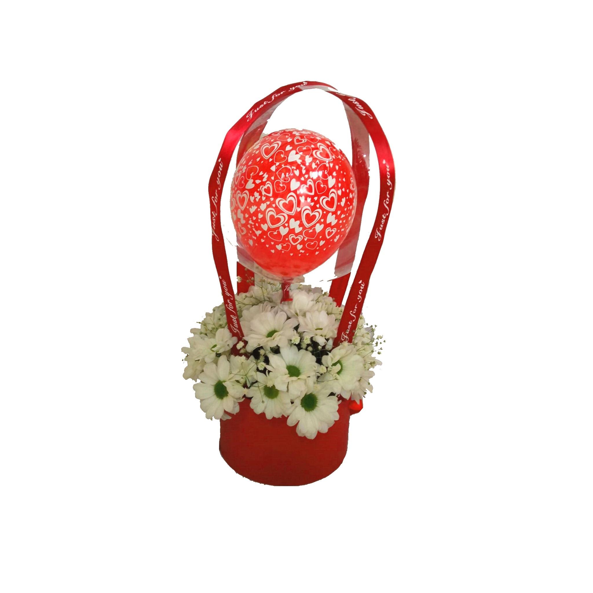 conjunto globos con flores naturales