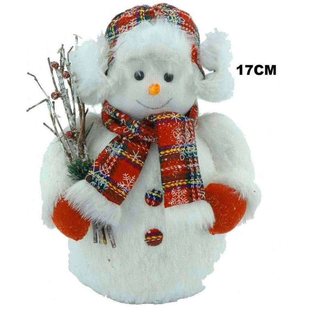 muñeco nieve 17cm