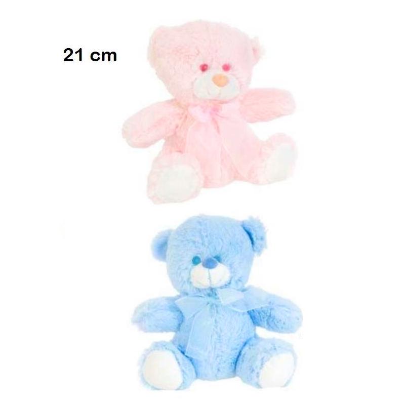 osito rosa y azul 21cm